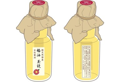 Camellia Tamakagami 包装紙 「椿油 玉鏡」 包装提案