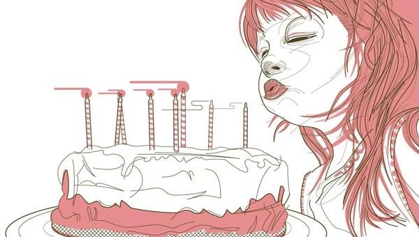 Birthday cake 説明書挿絵