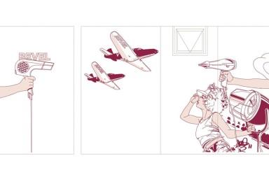 BEVEL HAIR DESIGN 店舗壁画 (美容院)「ベヴェル ヘア デザイン」